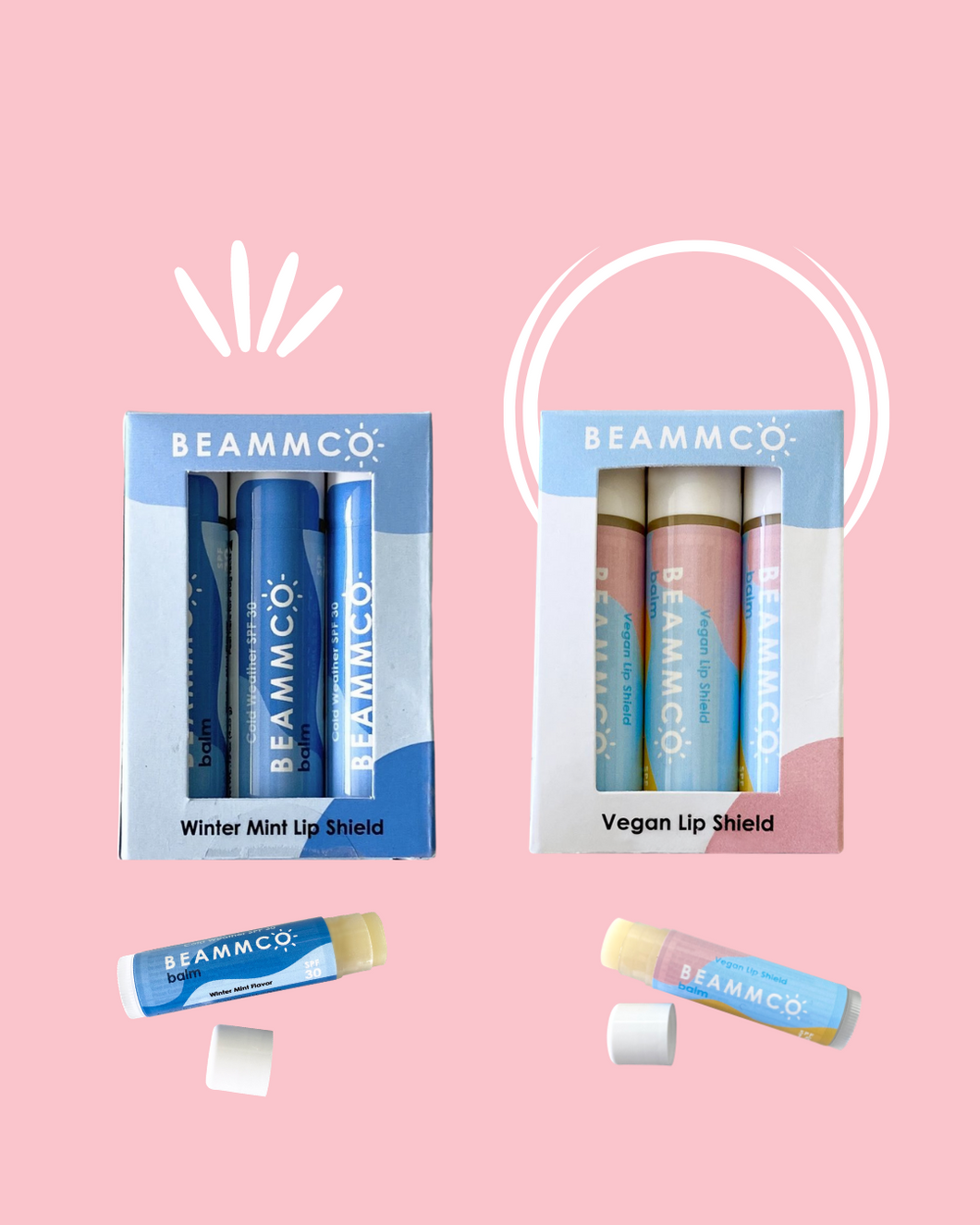 Beammco Balms Bundle with SPF 15 & 30 ☀️