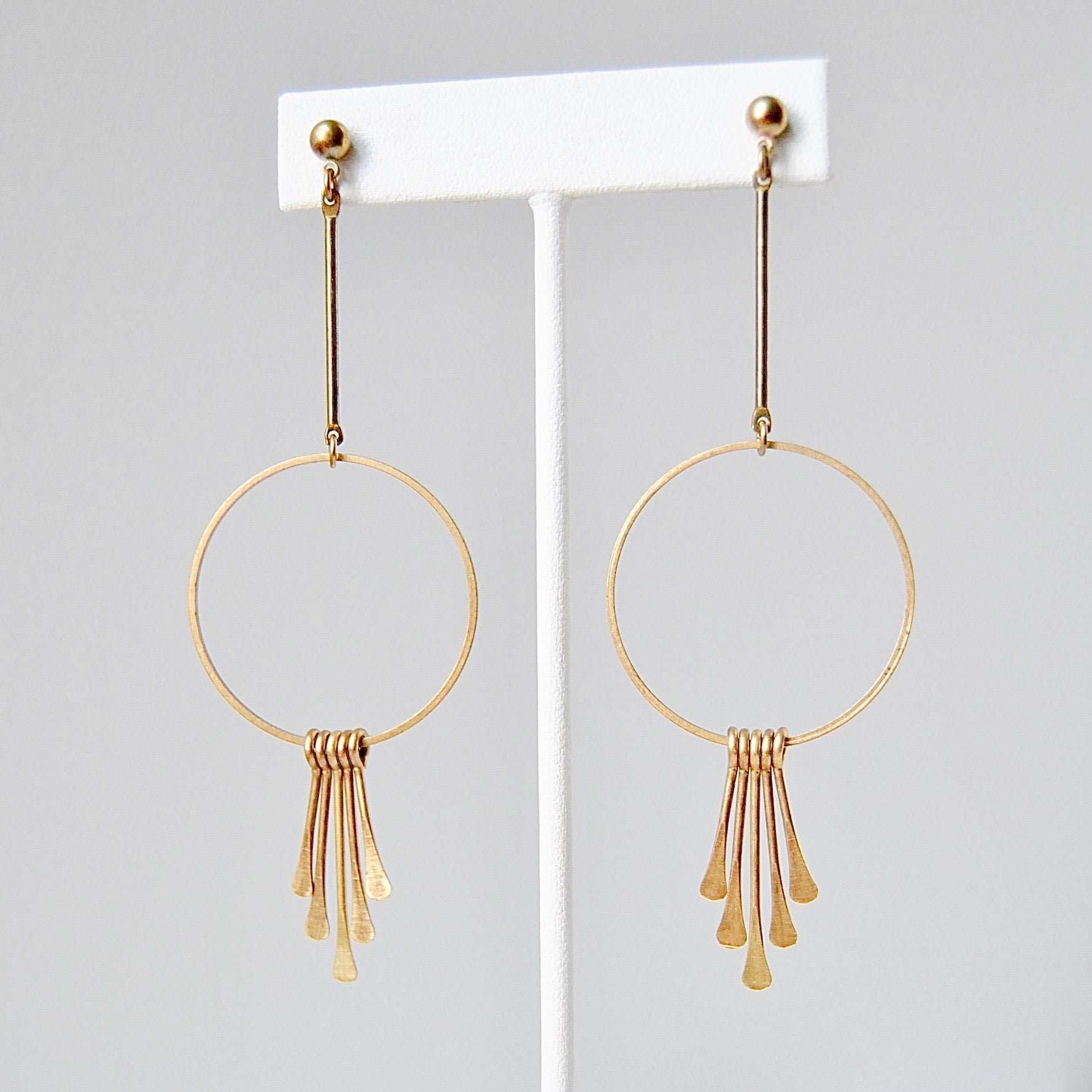 BOHO BRASS EARRINGS