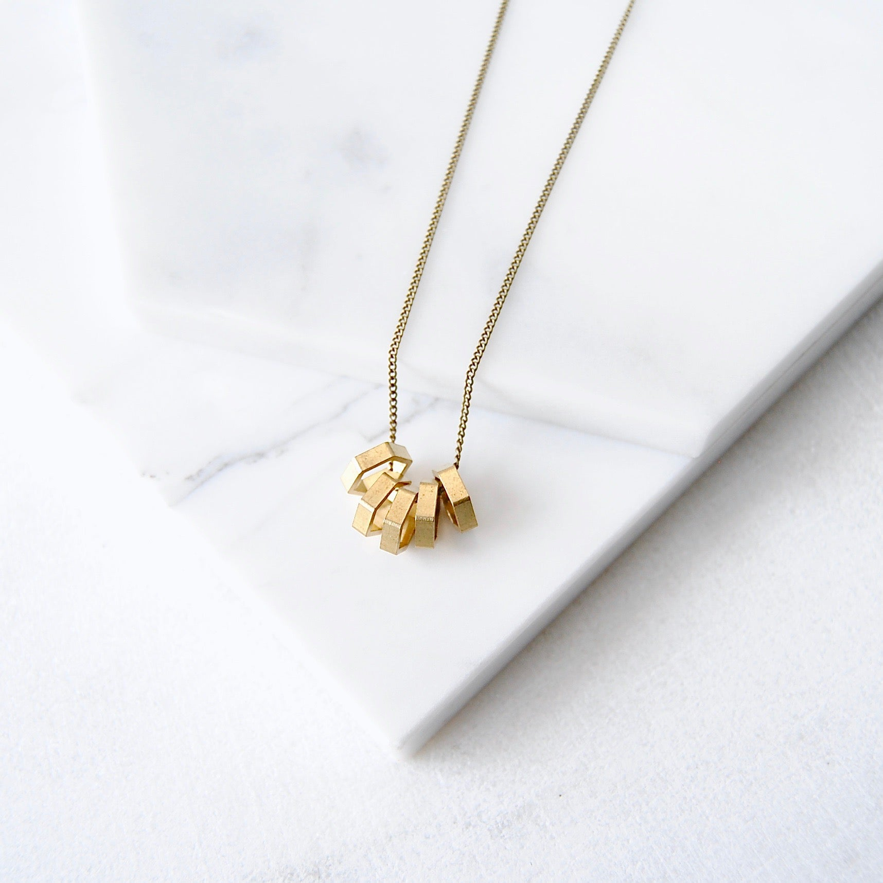RAW HEX NECKLACE