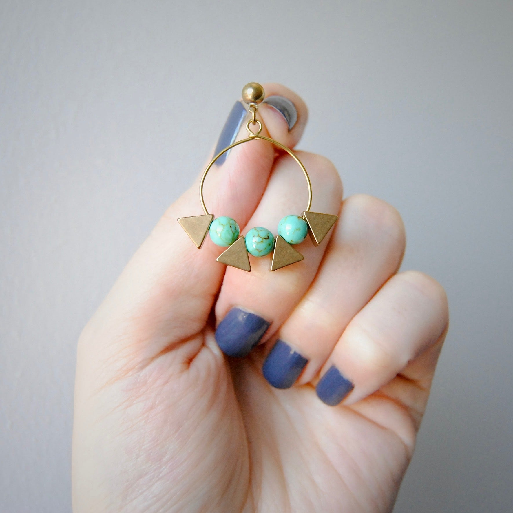 TRIANGLE BEAD EARRINGS