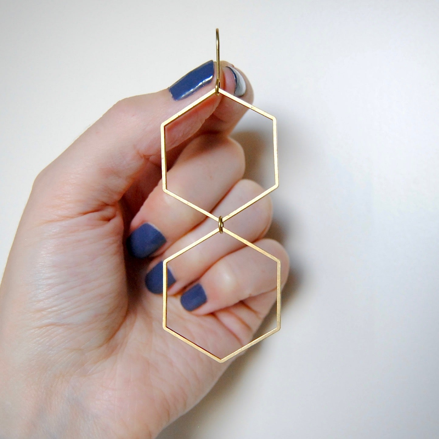 DOUBLE HEXAGON EARRINGS
