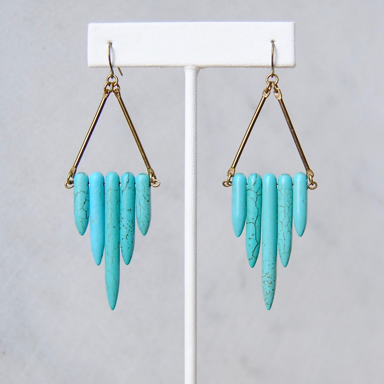 TURQUOISE SHIELD EARRINGS