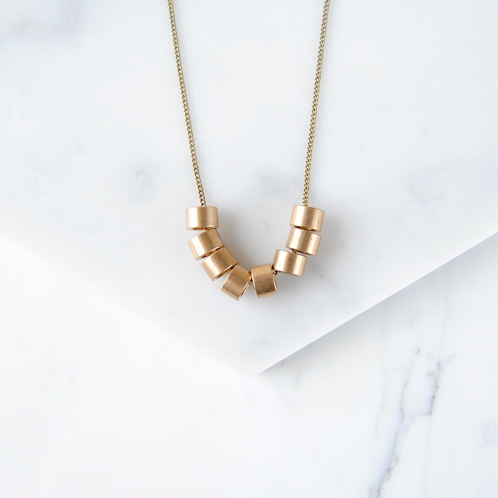 BRASS BEADS NECKLACE