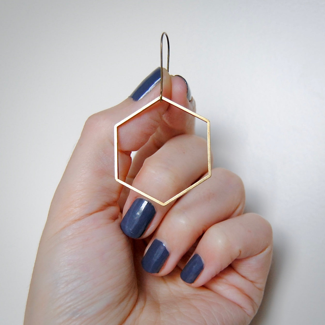 MINIMAL HEX EARRINGS