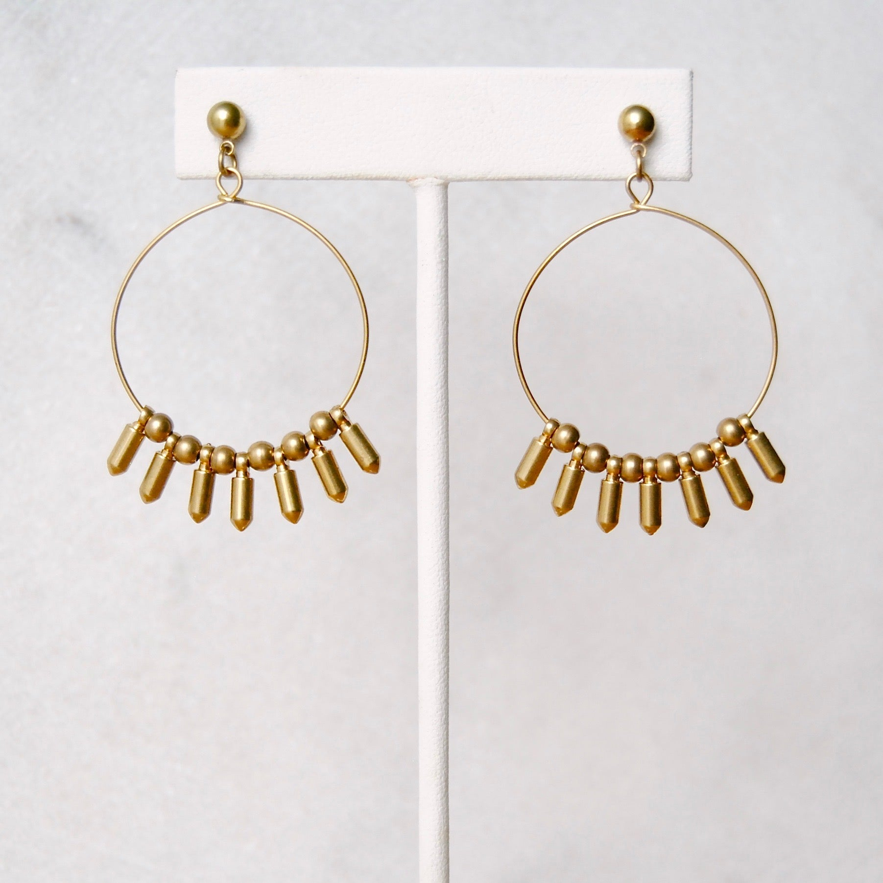 BULLET FRINGE EARRINGS