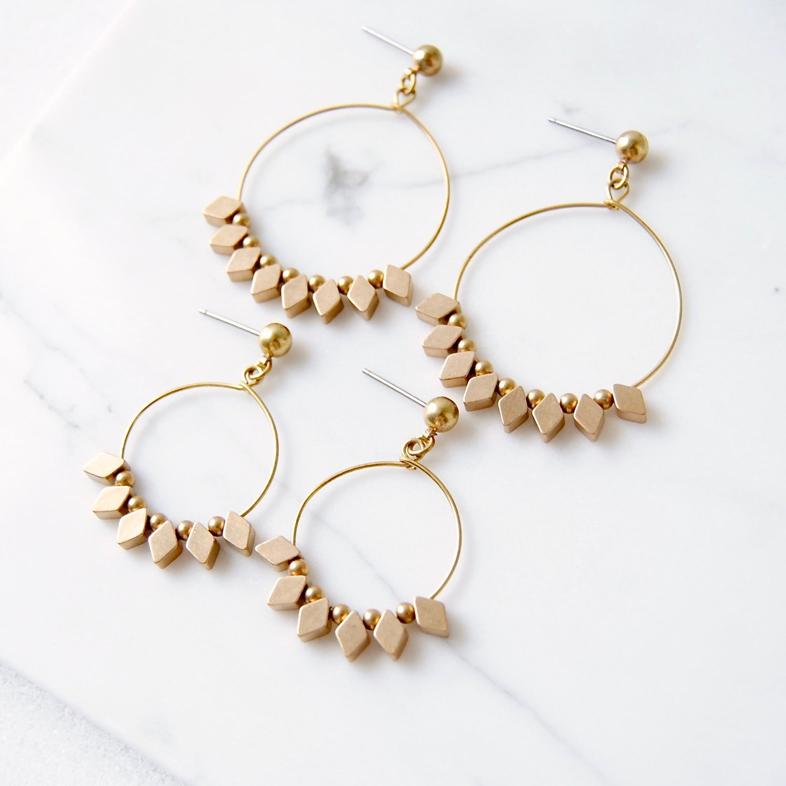 DARLING DIAMOND HOOPS