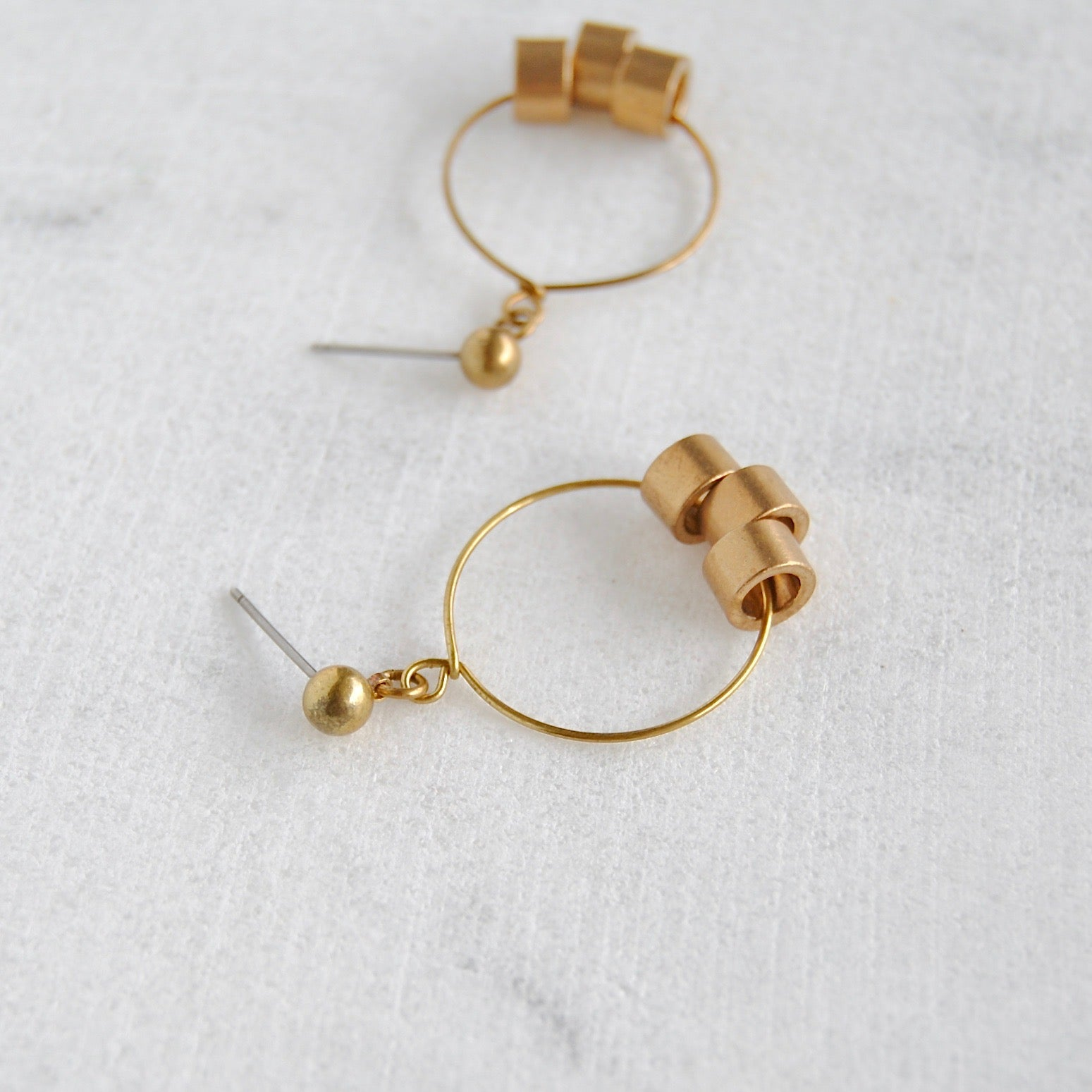 BRASS BEADS EARRINGS