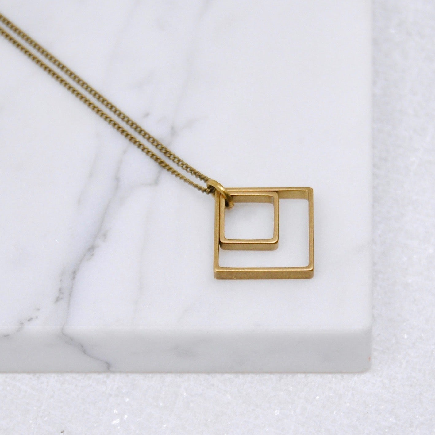 PAIRED SQUARES NECKLACE
