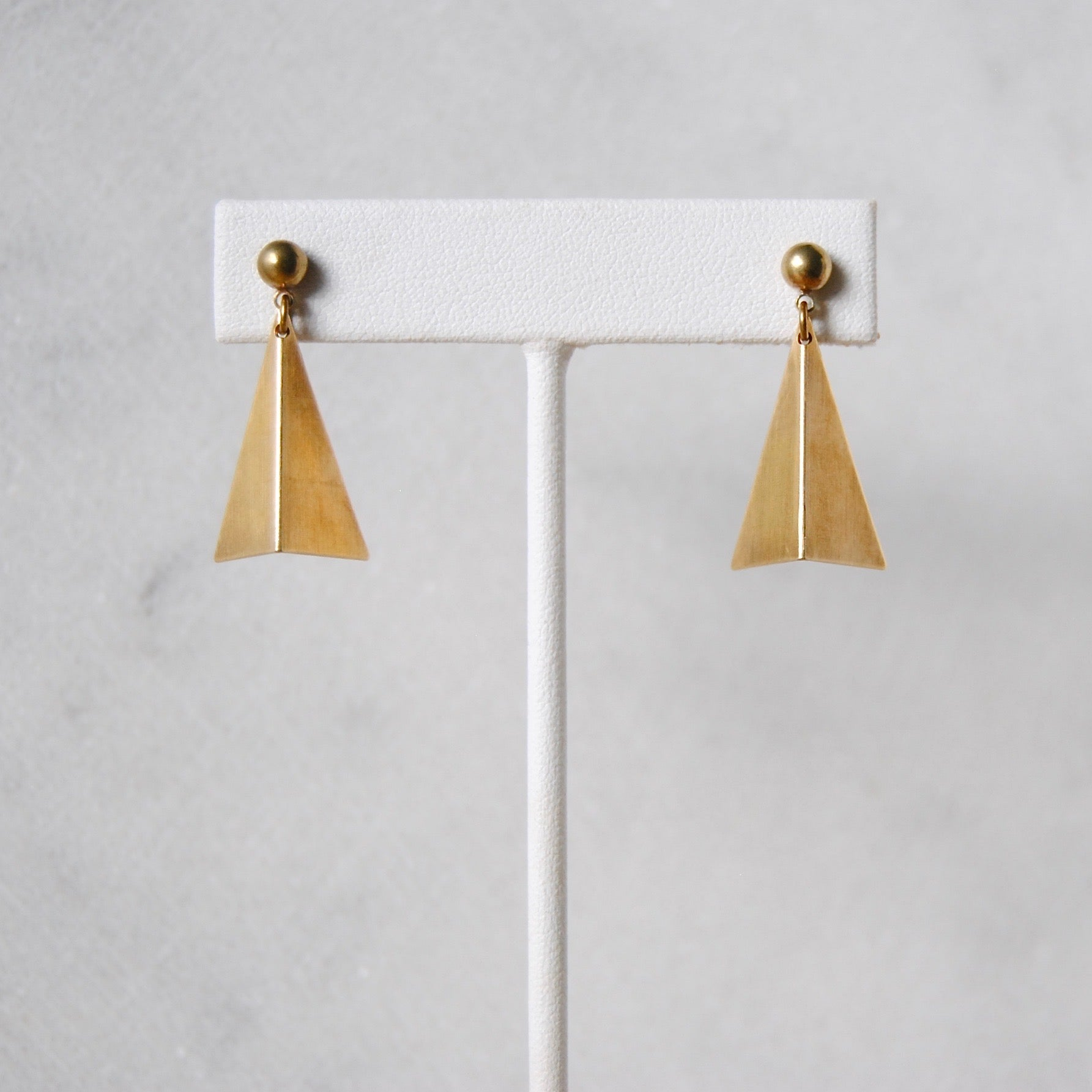 FOLDED TRIANGLE EARRINGS