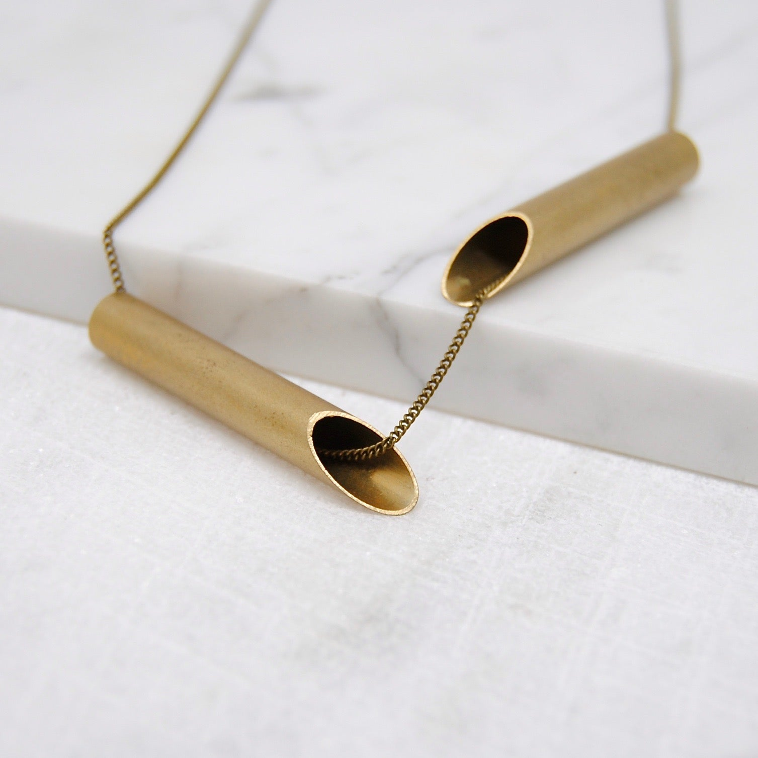BRASS V NECKLACE