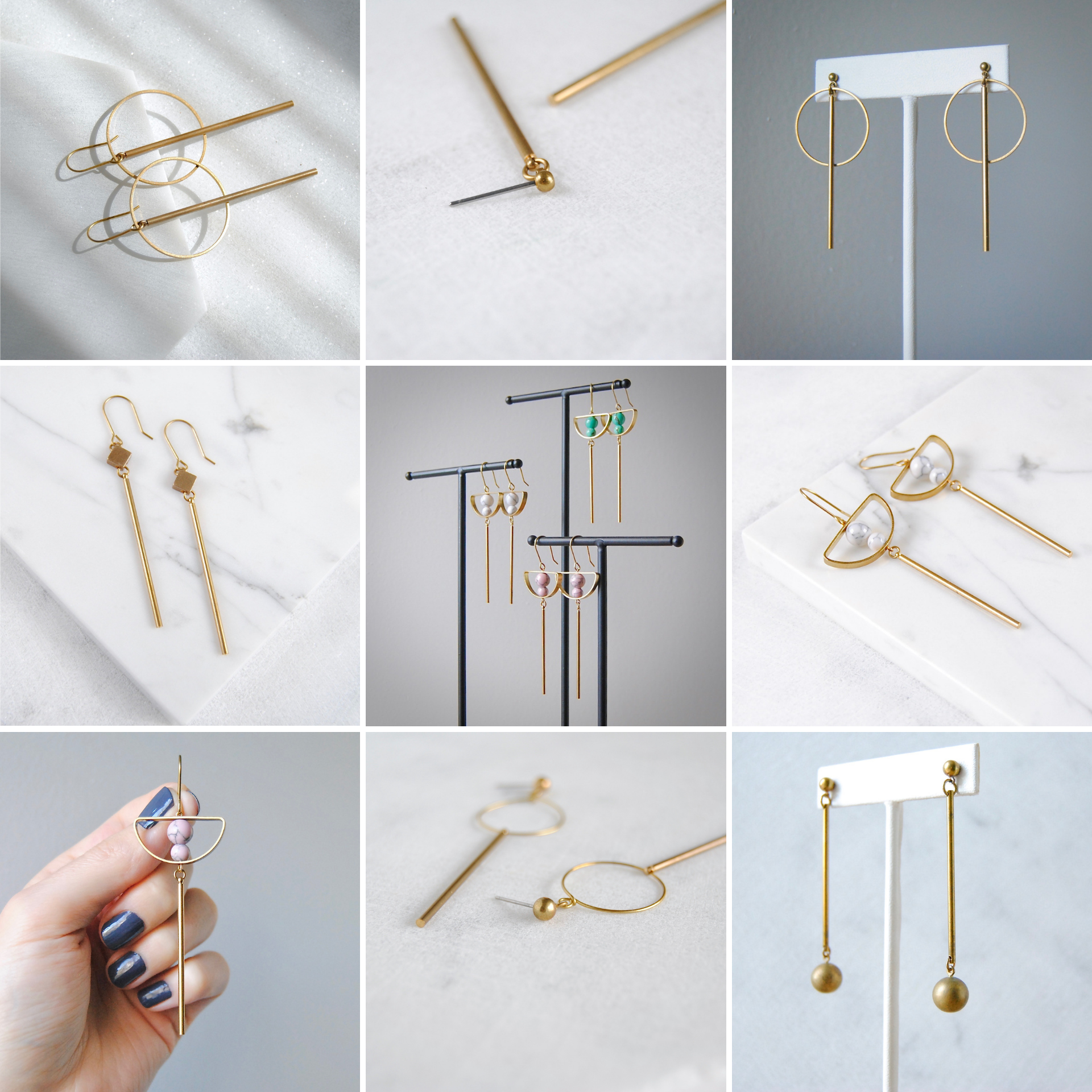 MANY BAR EARRING STYLES AVAILABLE