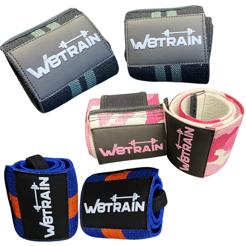 W8TRAIN PREMIUM WRIST WRAPS SUPPORT YOUR BENCH PRESS AND CURLS