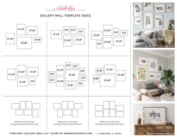 Gallery Wall Ideas Template Downloadable