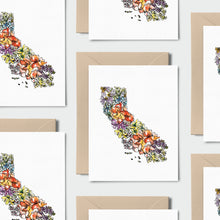Load image into Gallery viewer, CALIFORNIA WILD: Set of 8 Notecards + Kraft Envelopes + Stickers