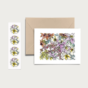 COLORADO WILD: Set of 8 Notecards + Kraft Envelopes + Stickers