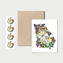 Load image into Gallery viewer, GEORGIA WILD: Set of 8 Notecards + Kraft Envelopes + Stickers