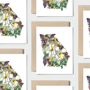 GEORGIA WILD: Set of 8 Notecards + Kraft Envelopes + Stickers