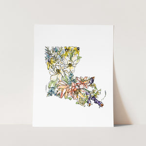 LOUISIANA State Fine Art Print
