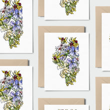 Load image into Gallery viewer, ILLINOIS WILD: Set of 8 Notecards + Kraft Envelopes + Stickers