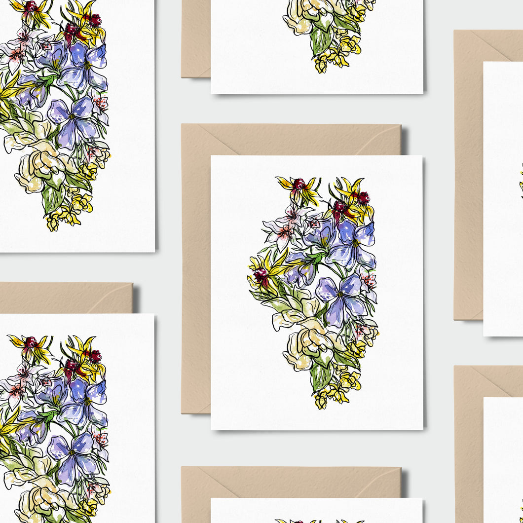 ILLINOIS WILD: Set of 8 Notecards + Kraft Envelopes + Stickers