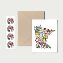 Load image into Gallery viewer, MINNESOTA WILD: Set of 8 Notecards + Kraft Envelopes + Stickers