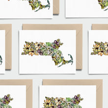 Load image into Gallery viewer, MASSACHUSETTS WILD: Set of 8 Notecards + Kraft Envelopes + Stickers