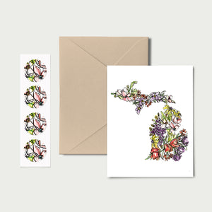 MICHIGAN WILD: Set of 8 Notecards + Kraft Envelopes + Stickers