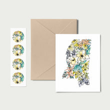 Load image into Gallery viewer, MISSISSIPPI WILD: Set of 8 Notecards + Kraft Envelopes + Stickers