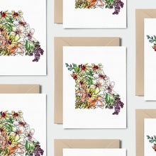 Load image into Gallery viewer, MISSOURI WILD: Set of 8 Notecards + Kraft Envelopes + Stickers
