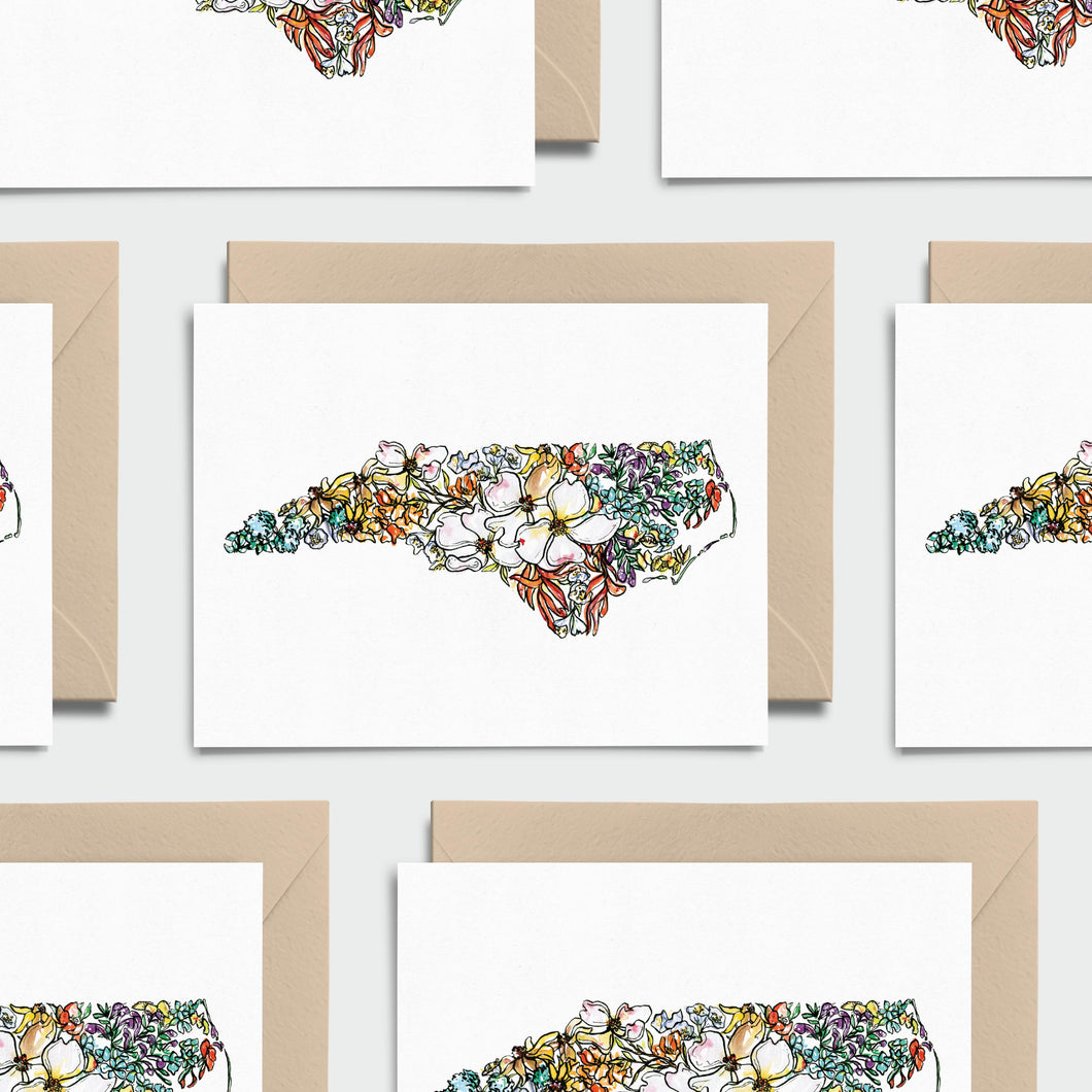 NORTH CAROLINA WILD: Set of 8 Notecards + Kraft Envelopes + Stickers
