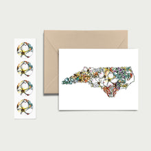Load image into Gallery viewer, NORTH CAROLINA WILD: Set of 8 Notecards + Kraft Envelopes + Stickers
