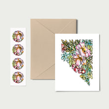 Load image into Gallery viewer, NEVADA WILD: Set of 8 Notecards + Kraft Envelopes + Stickers