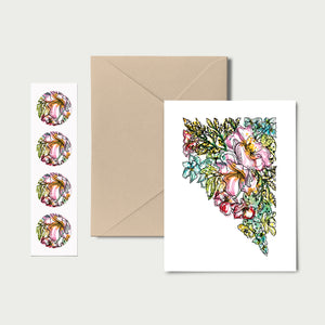 NEVADA WILD: Set of 8 Notecards + Kraft Envelopes + Stickers