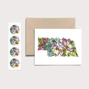 NEBRASKA WILD: Set of 8 Notecards + Kraft Envelopes + Stickers