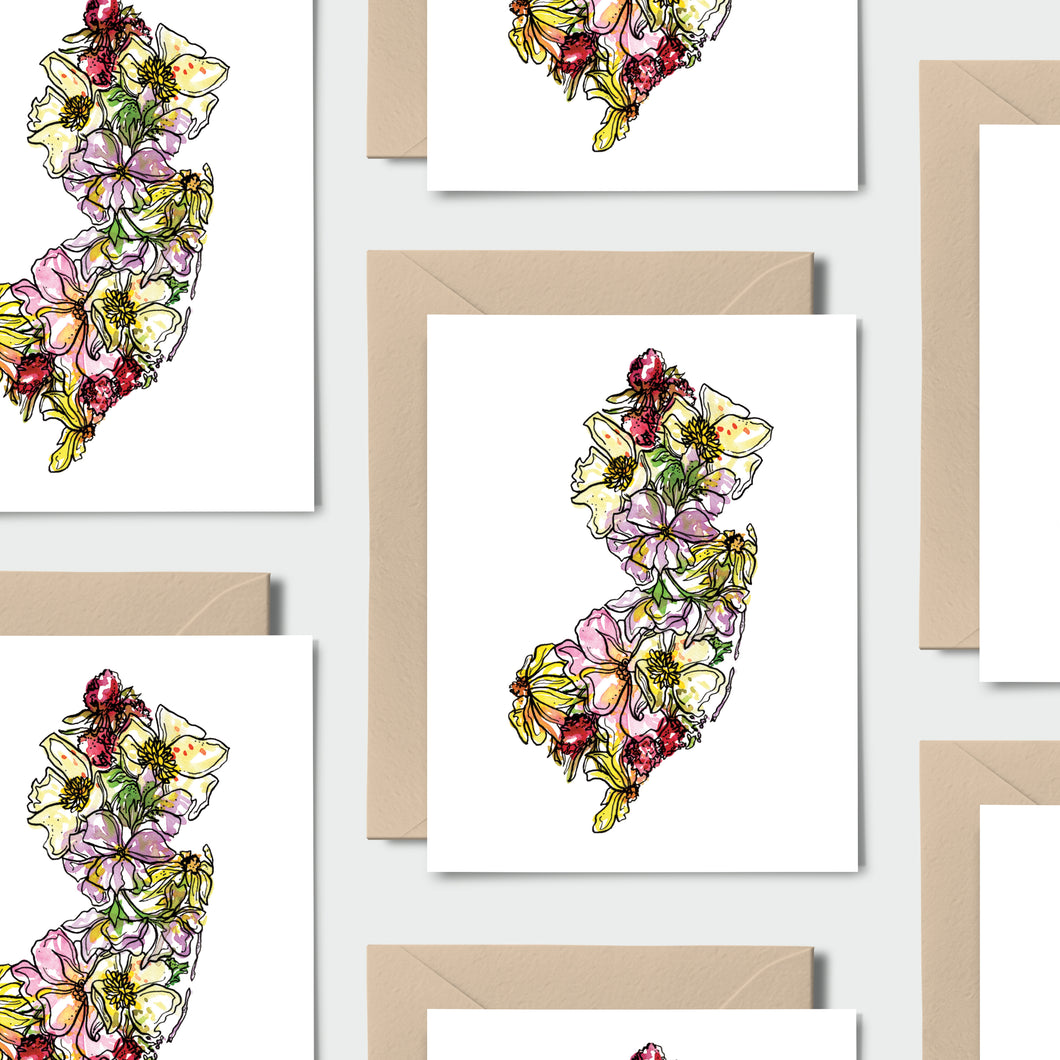 NEW JERSEY WILD: Set of 8 Notecards + Kraft Envelopes + Stickers