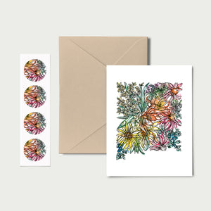 NEW MEXICO WILD: Set of 8 Notecards + Kraft Envelopes + Stickers
