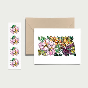 NORTH DAKOTA WILD: Set of 8 Notecards + Kraft Envelopes + Stickers