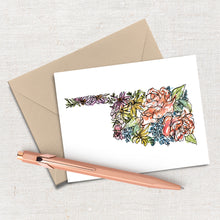 Load image into Gallery viewer, OKLAHOMA WILD: Set of 8 Notecards + Kraft Envelopes + Stickers