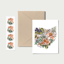 Load image into Gallery viewer, OHIO WILD: Set of 8 Notecards + Kraft Envelopes + Stickers