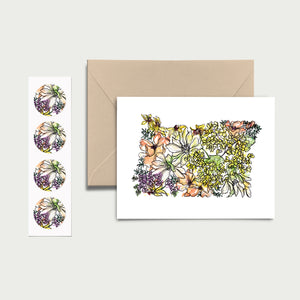 OREGON WILD: Set of 8 Notecards + Kraft Envelopes + Stickers