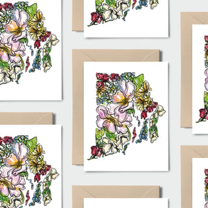 RHODE ISLAND WILD: Set of 8 Notecards + Kraft Envelopes + Stickers