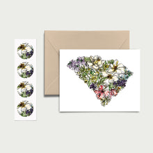 Load image into Gallery viewer, SOUTH CAROLINA WILD: Set of 8 Notecards + Kraft Envelopes + Stickers