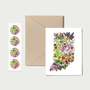 INDIANA WILD: Set of 8 Notecards + Kraft Envelopes + Stickers