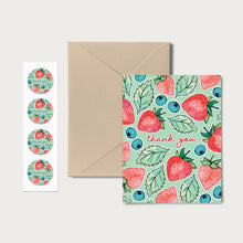 Load image into Gallery viewer, Thank You Berry Much Notecards // BOX SET of 12