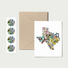 Load image into Gallery viewer, TEXAS WILD: Set of 8 Notecards + Kraft Envelopes + Stickers