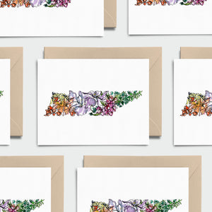 TENNESSEE WILD: Set of 8 Notecards + Kraft Envelopes + Stickers