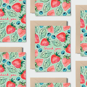 Thank You Berry Much Notecards // BOX SET of 12