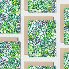Load image into Gallery viewer, The Succulent Patch // Set of 8 Notecards, Kraft Envelopes and Stickers