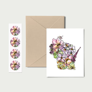 WISCONSIN WILD: Set of 8 Notecards + Kraft Envelopes + Stickers