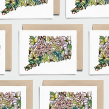Load image into Gallery viewer, CONNECTICUT WILD: Set of 8 Notecards + Kraft Envelopes + Stickers